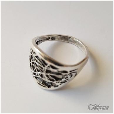 Sidabrinis žiedas Z1076; 17,5 mm 2