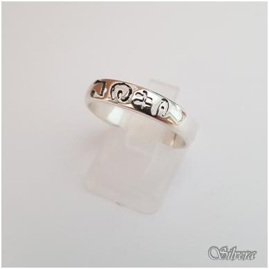 Sidabrinis žiedas Z1096; 17,5 mm