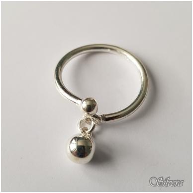 Sidabrinis žiedas Z121; 15,5 mm 2