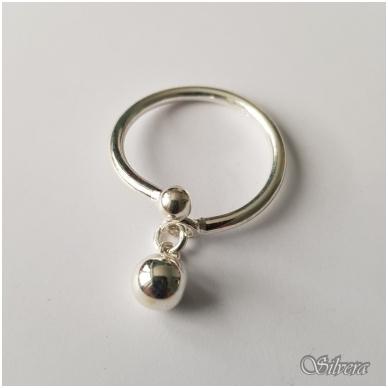 Sidabrinis žiedas Z121; 18 mm 2