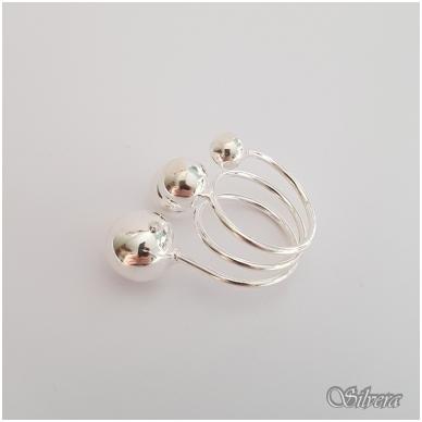 Sidabrinis žiedas Z140; 18 mm 2