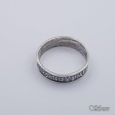 Sidabrinis žiedas Z203; 18 mm 2